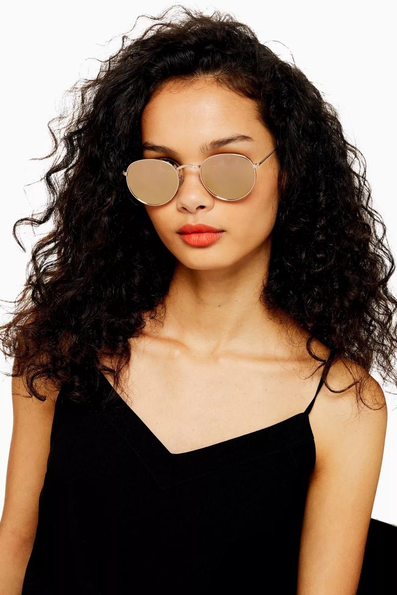 Round Mirror Sunglasses, $22, Topshop