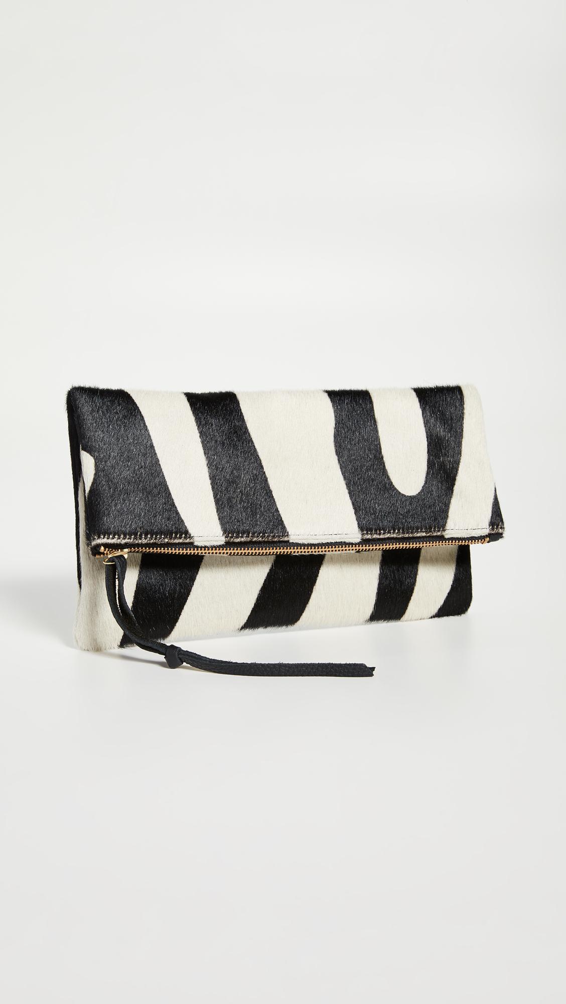 Anastasia Zebra Clutch, $180, Shopbop