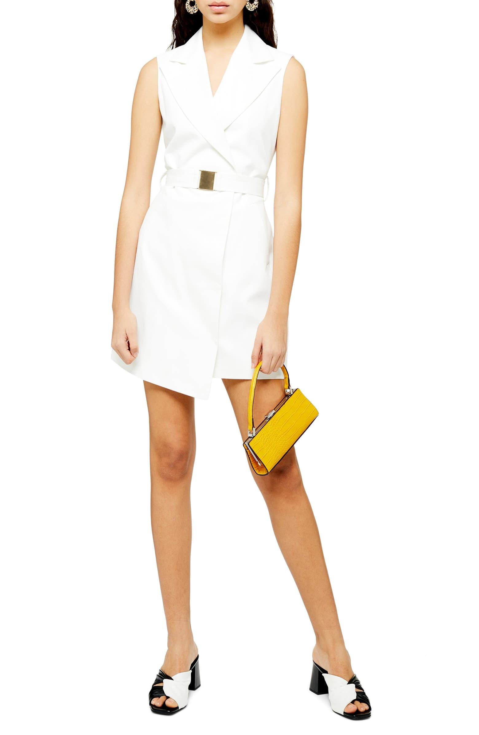 Sleeveless White Blazer, $125, Nordstrom