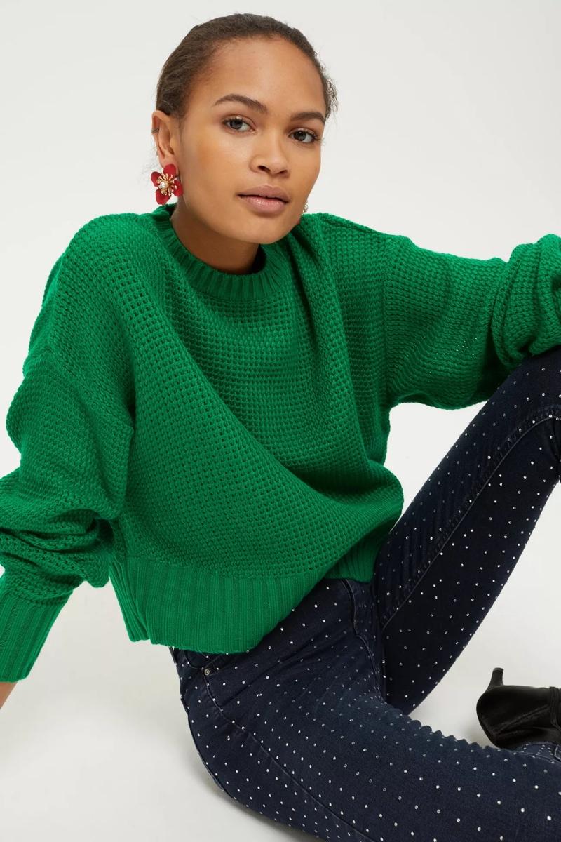 Green Cropped Sweatshirt, $48, Topshop