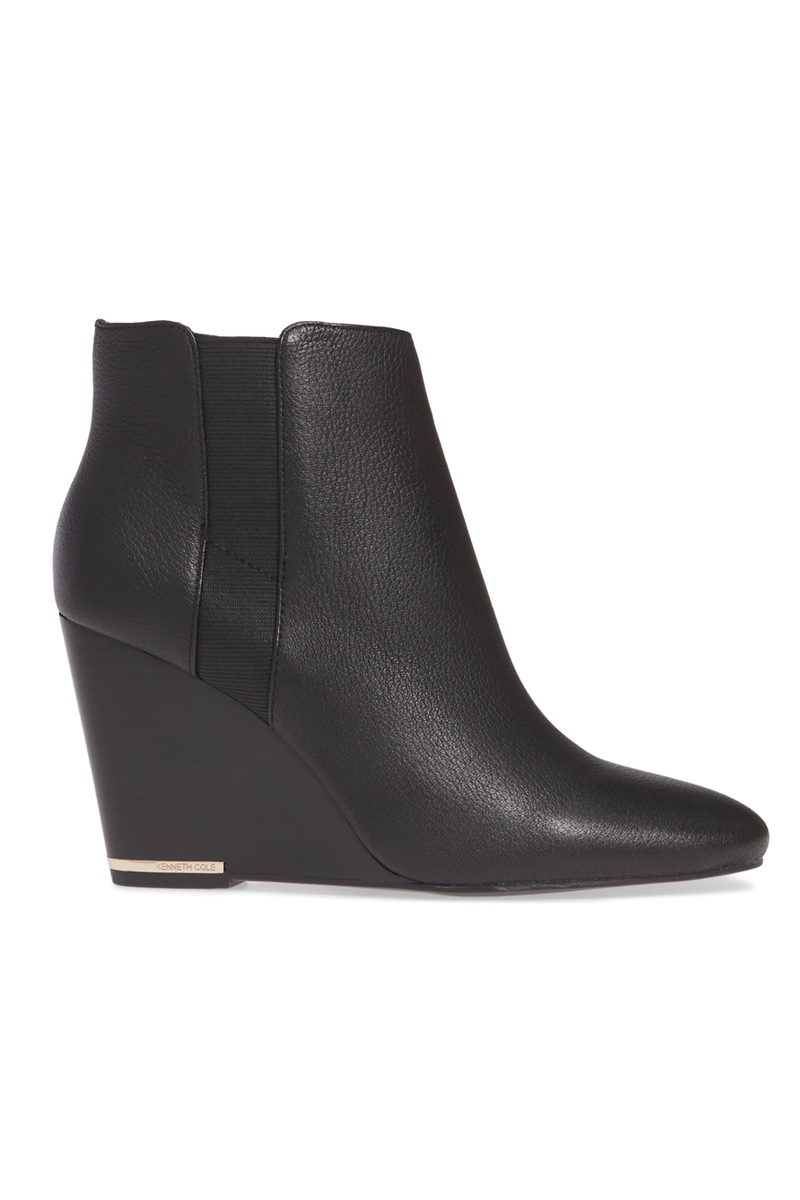Kenneth Cole Leather Wedge Booties, $199, Nordstrom