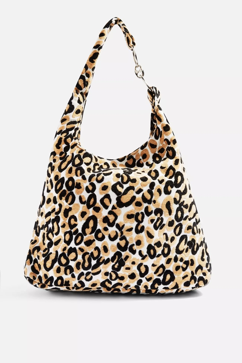 Leopard Slouch Tote, $60, Topshop