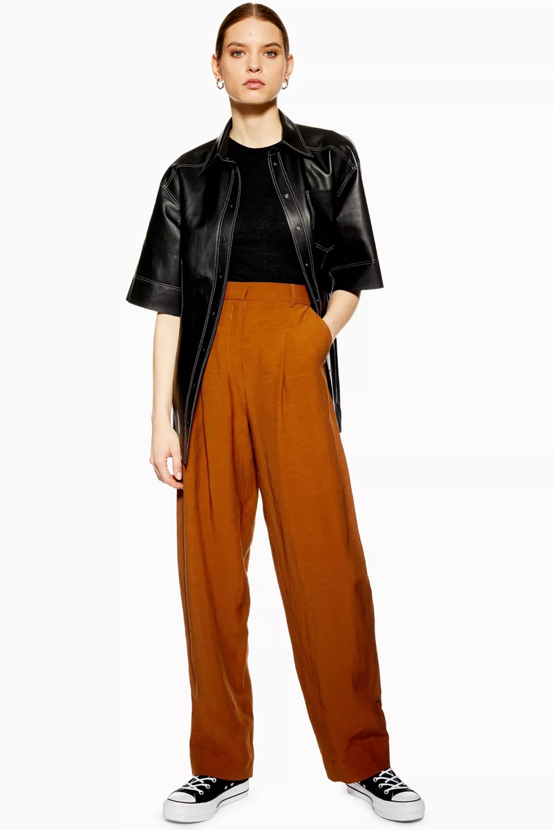Rust Essential Peg Trousers, $76, Topshop