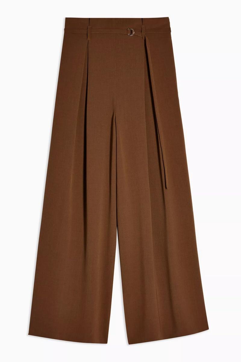 Brown Wide Leg Trousers, $90, Topshop