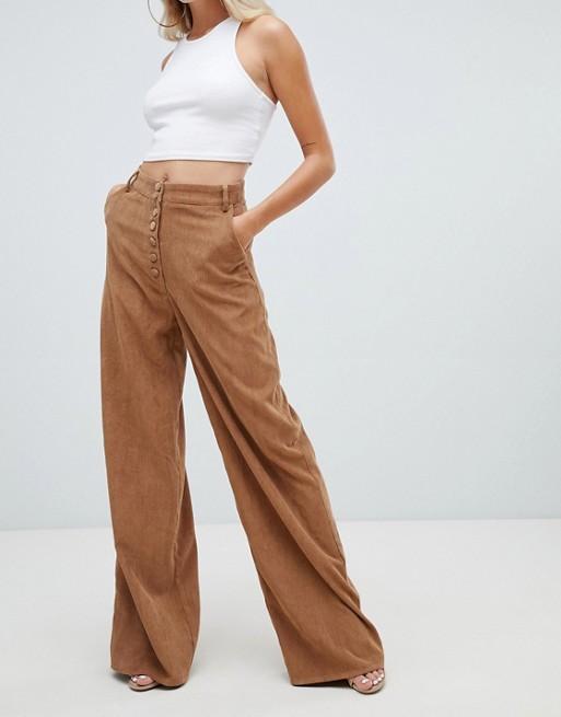 Wide Leg Corduroy Pants, $38, ASOS