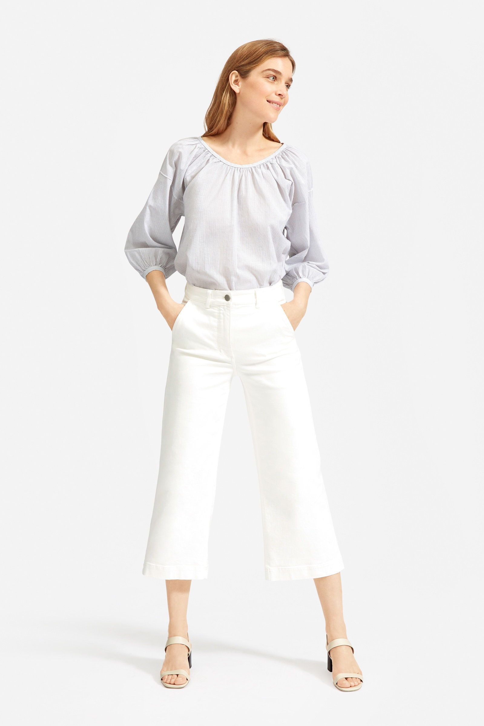 Ruched Air Blouse, $55, Everlane