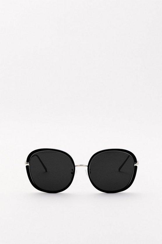 Oversized Round Sunglasses, $10, Nasty Gal
