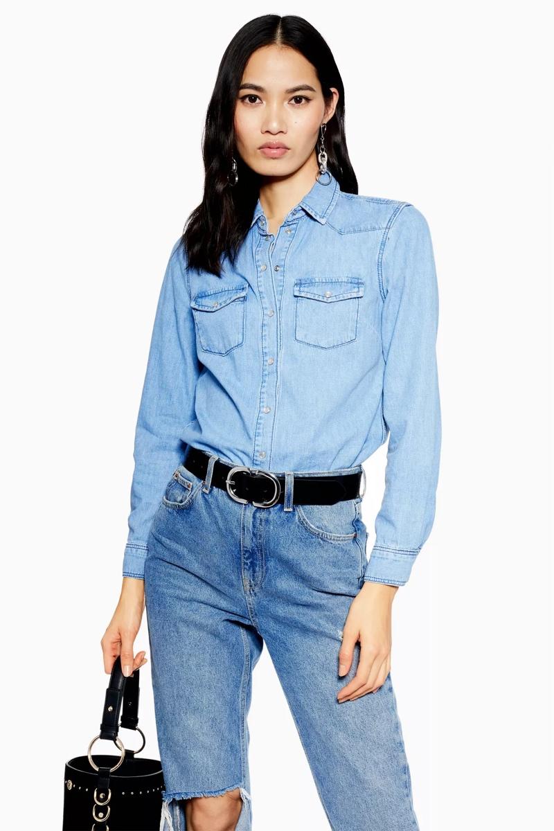 Western Denim Shirt, $58, Topshop
