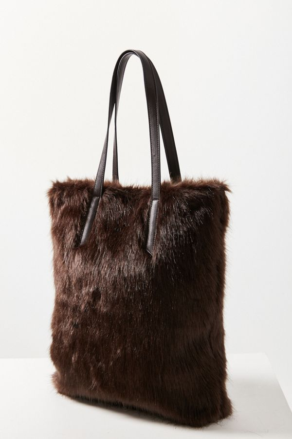 Brown Fur Tote Bag, Urban Outfitters