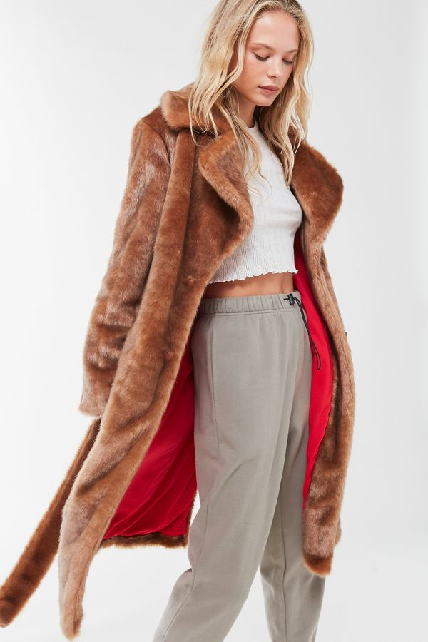 Faux Fur Mink Coat, $349, Urban Outfitters