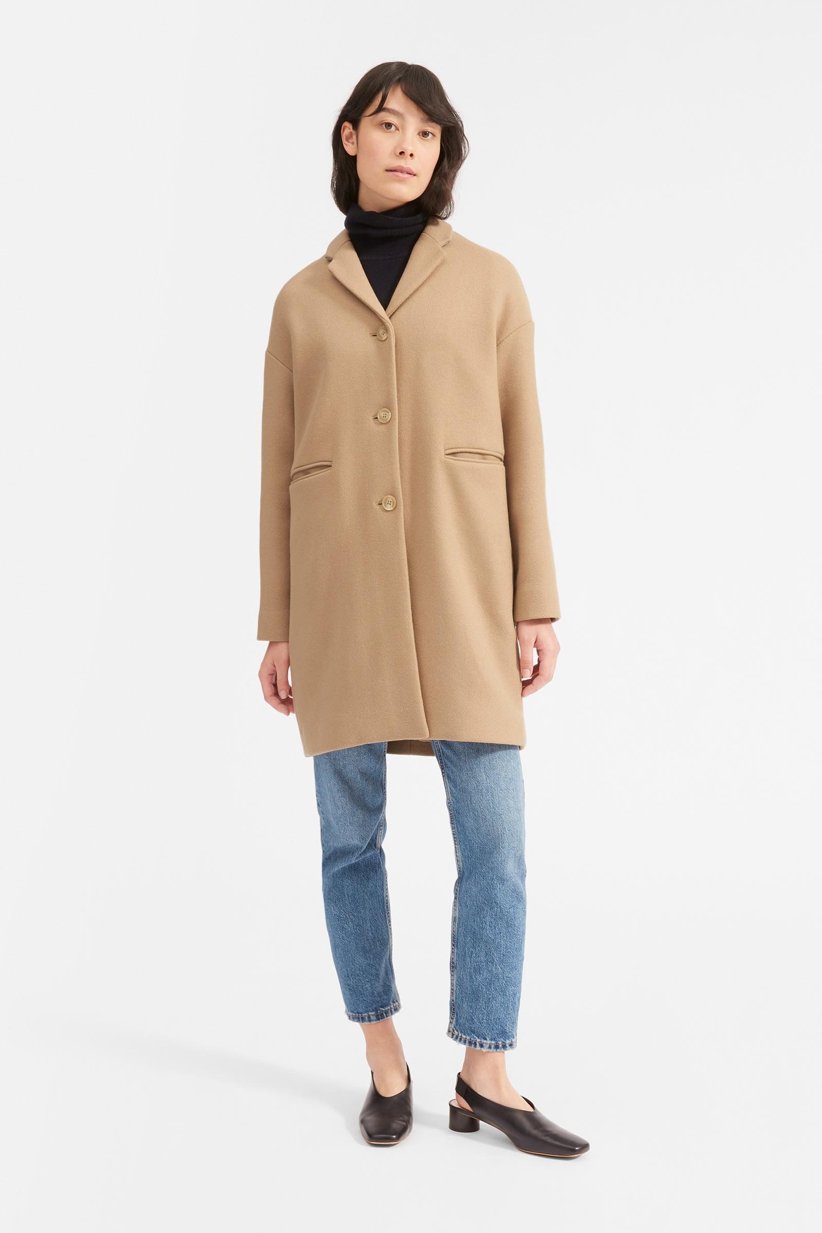 Camel Cocoon Coat, $250, Everlane