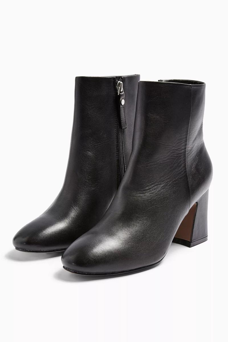 Monaco Leather Booties, $95, Topshop