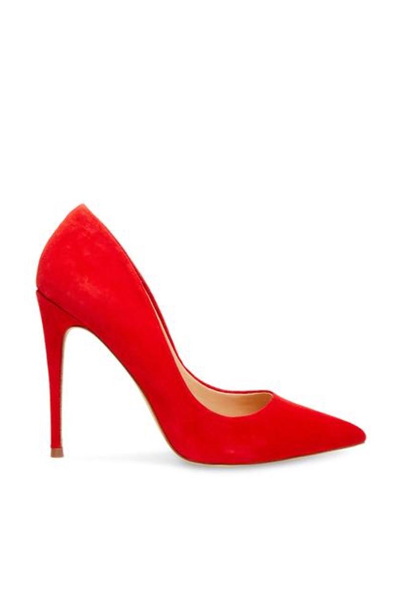 Daisie Red Suede Heel, $90, Steve Madden