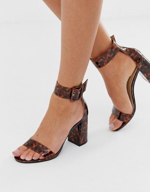 Tortoise Shell Block Heel, $40, ASOS