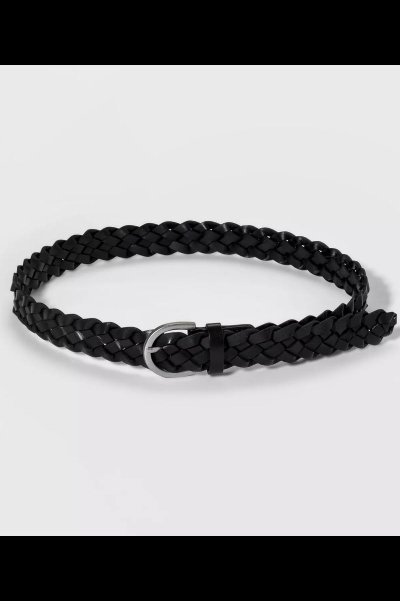 Black Braid Belt, $17, Target