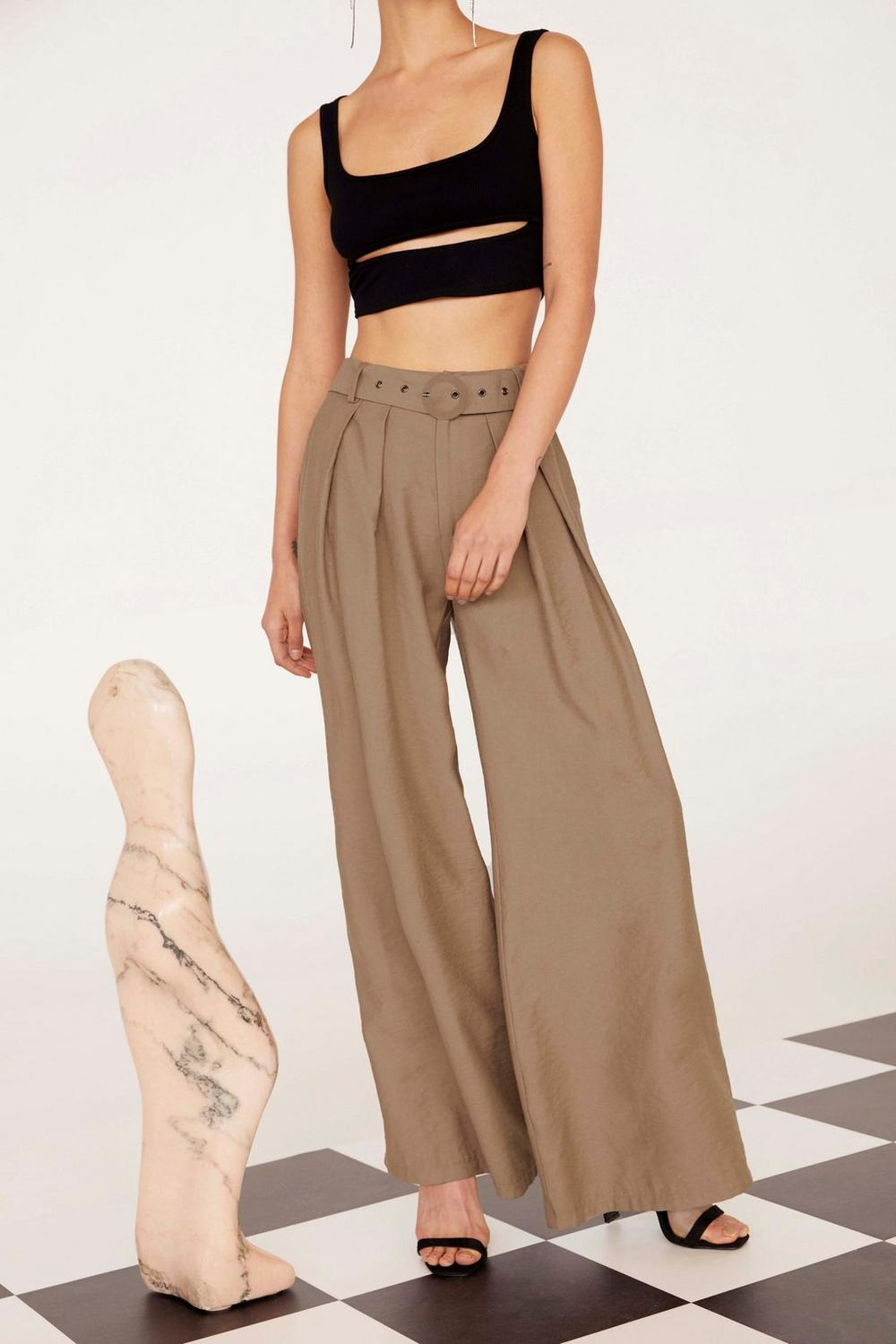 Business As Usual Wide Leg Pants, $40, Nasty Gal