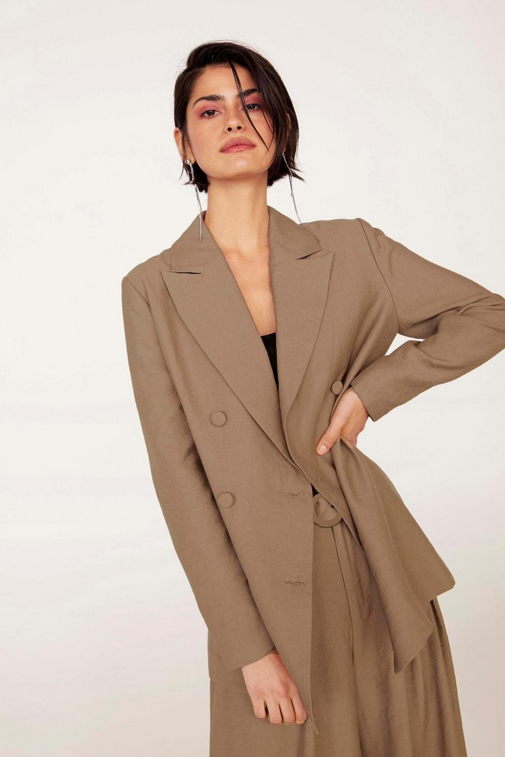 Business As Usual Oversized Suit Jacket, $55, Nasty Gal