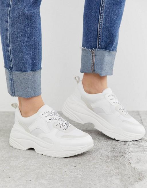 Chunky White Sneakers, $70, ASOS