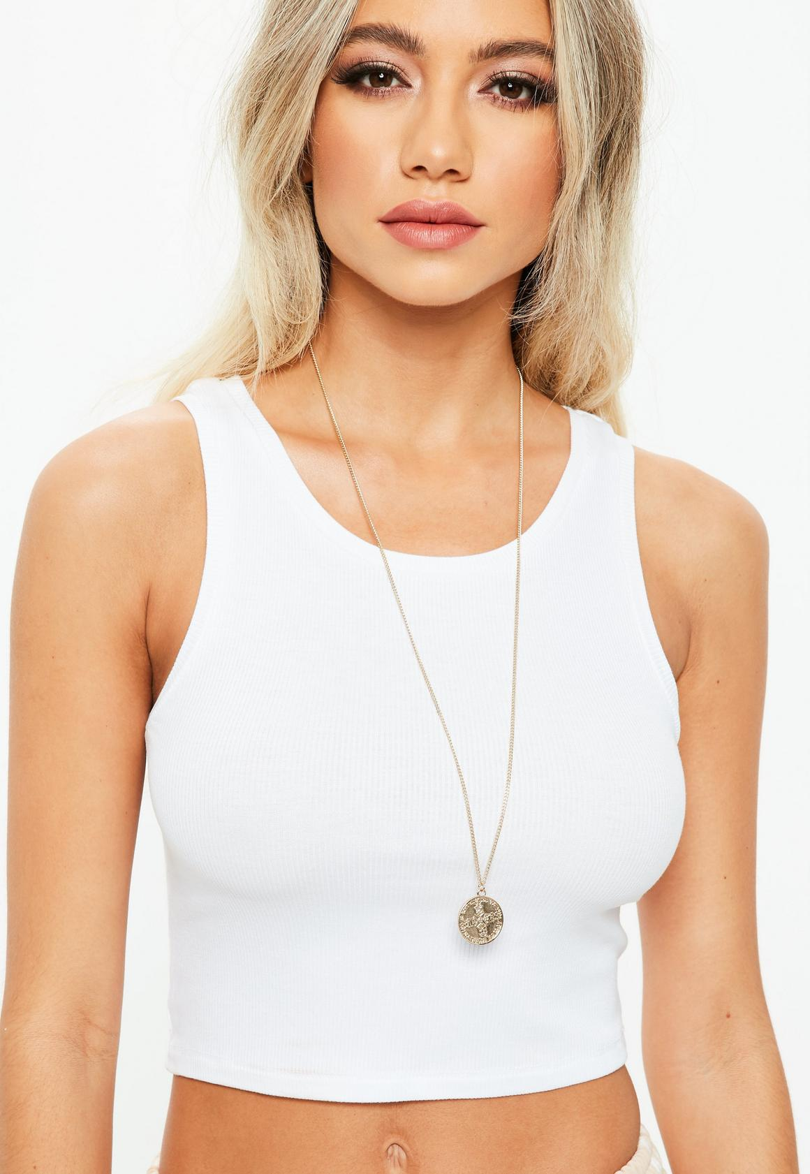 White Crop Top, $13, Missguided