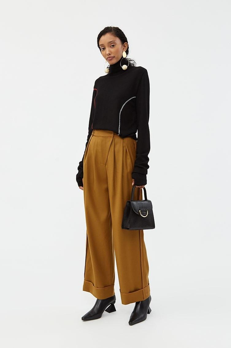 Daria Binding Wide Trouser, $340, Need Supply