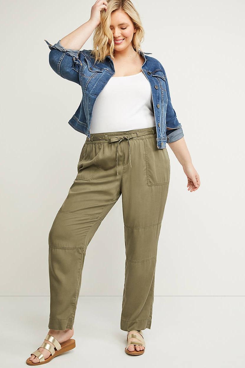 Green Cargo Pants, $60, Lane Bryant