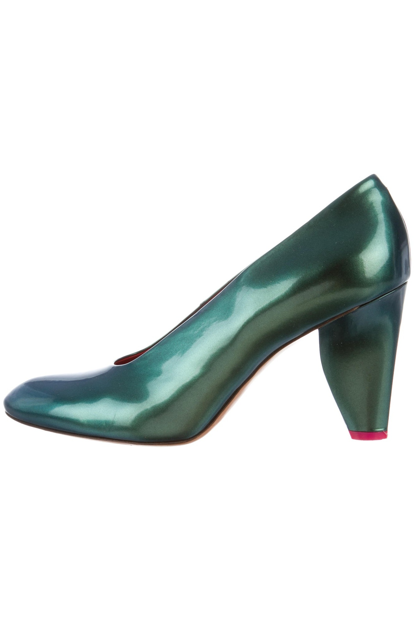 Celíne Metallic Round Toe Pump, $128, The Real Real