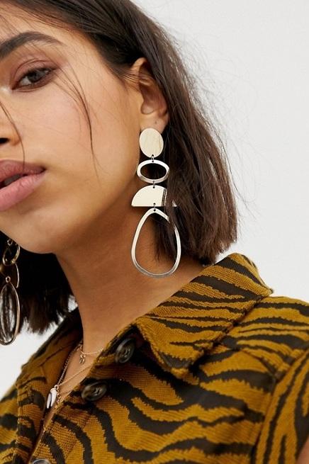 Gold Drop Earrings, $11, ASOS