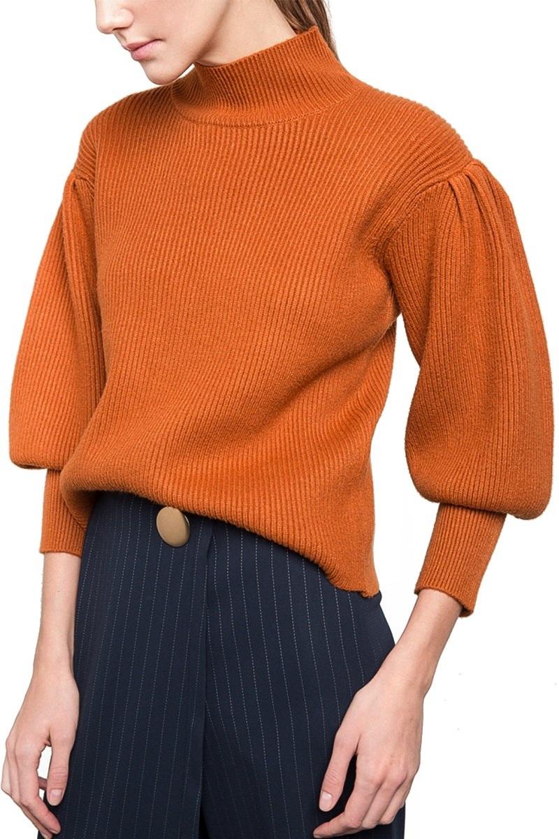 Rust Balloon Sleeve Sweater, $22, Amazon