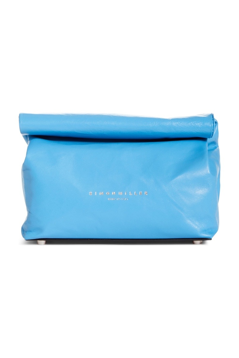 SIMON MILLER LEATHER LUNCH BAG CLUTCH, $390, NORDSTROM