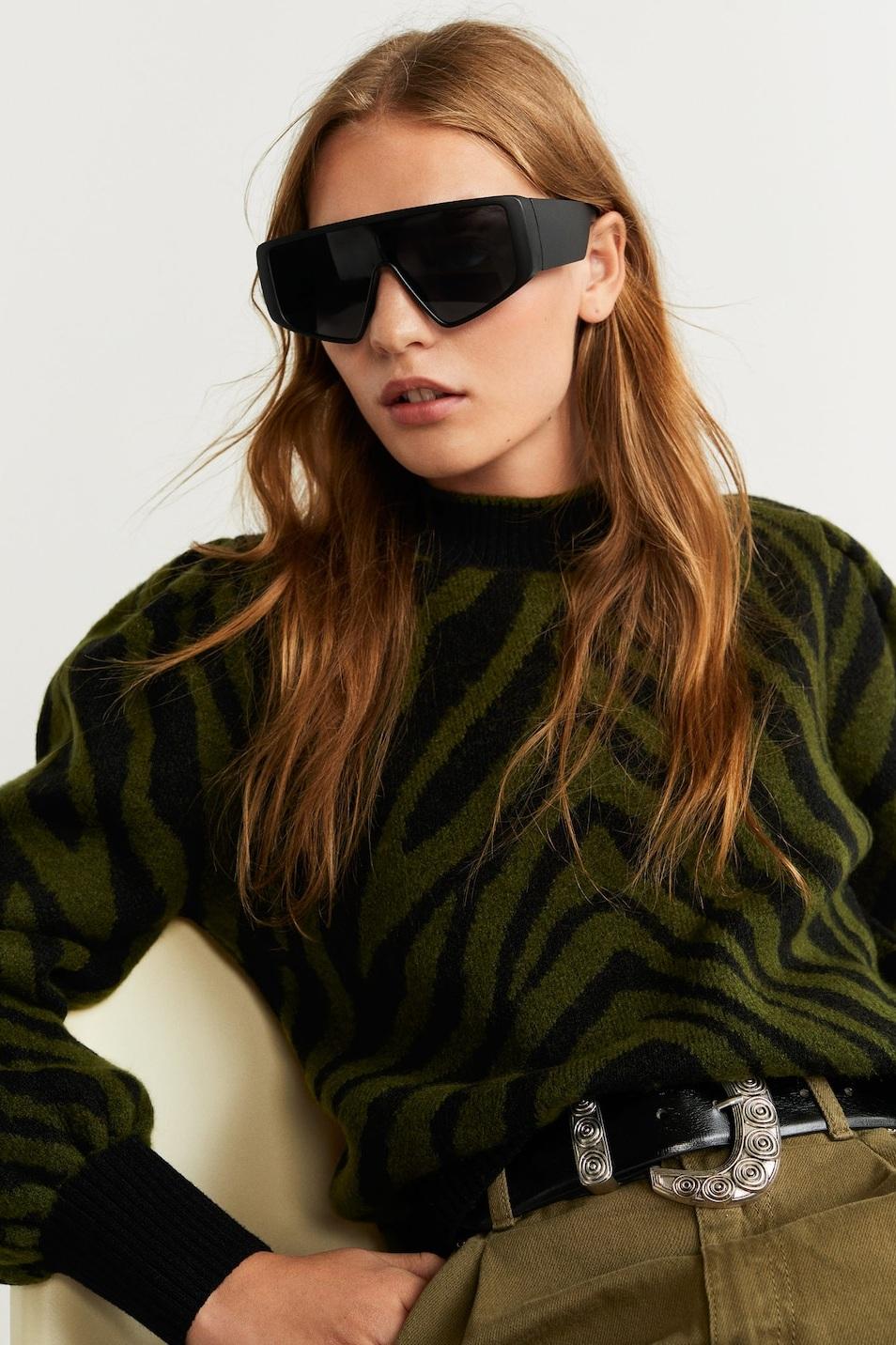 Oversized Shade Sunglasses, $40, Mango