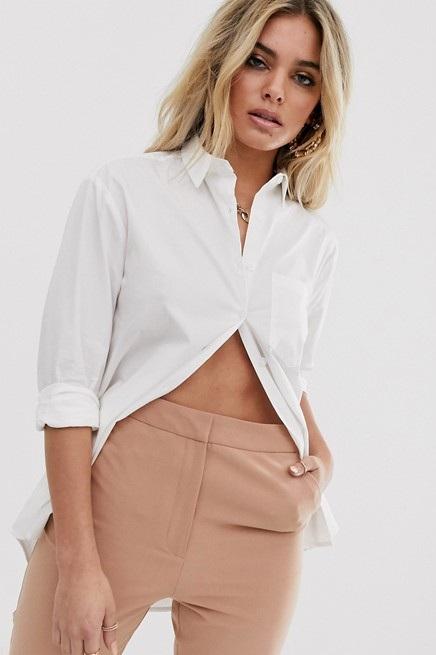 White Button Down Boyfriend Shirt, $20, ASOS