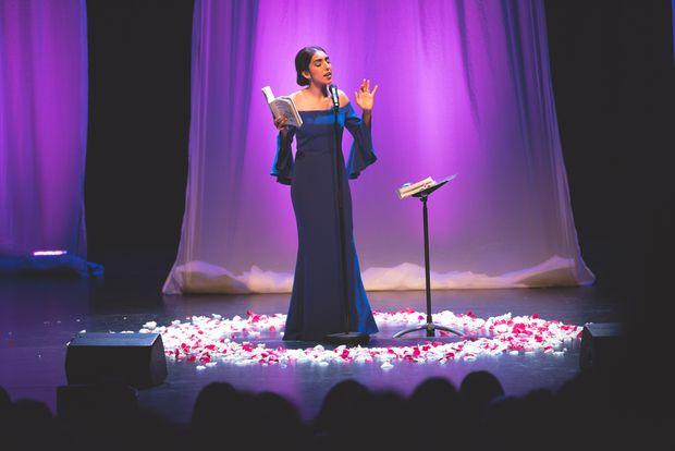 Rupi performing at the Rose Theatre in Brampton. Credit: Christina de Melo