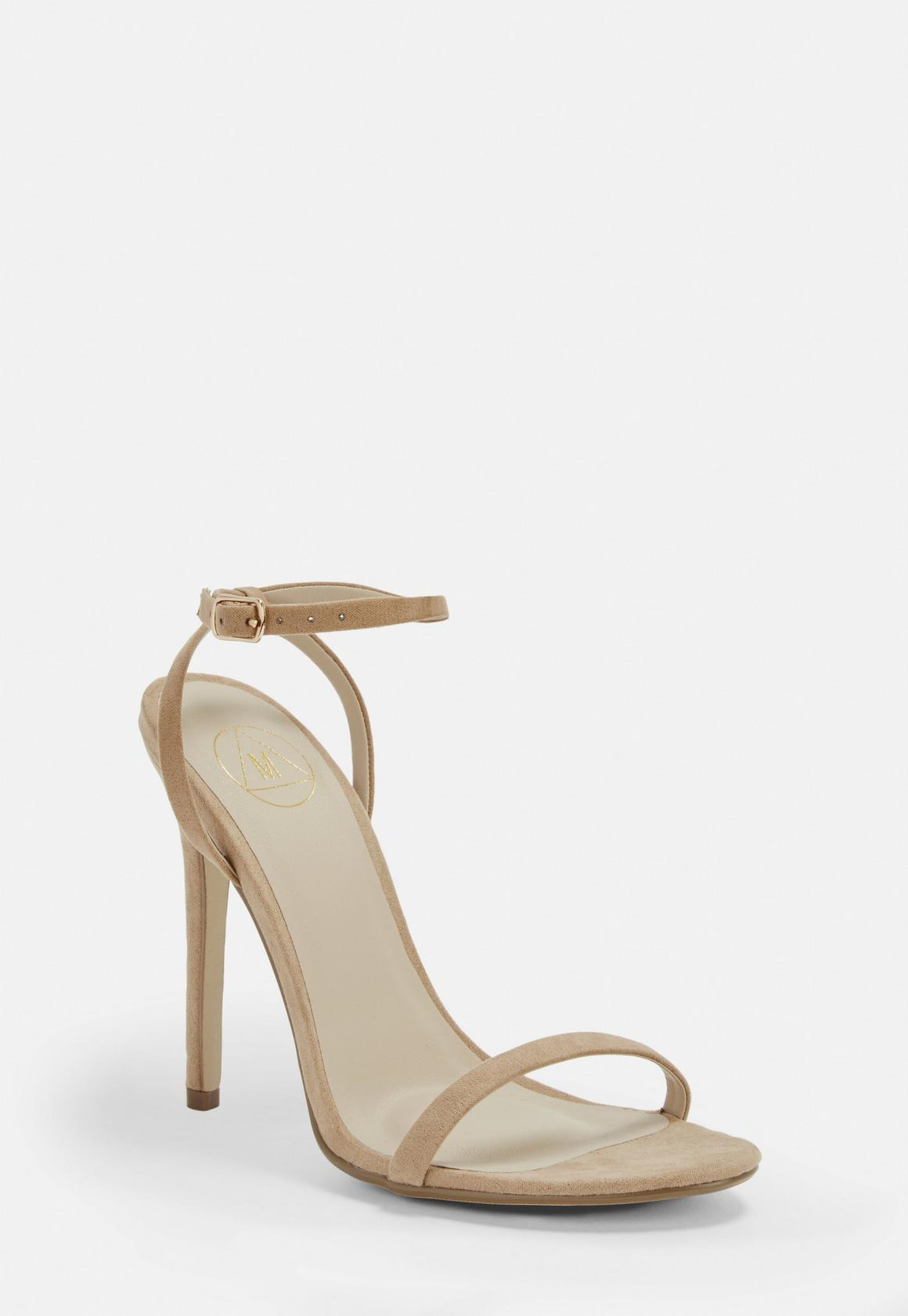 Nude Barely There Heels, $34, Missguided