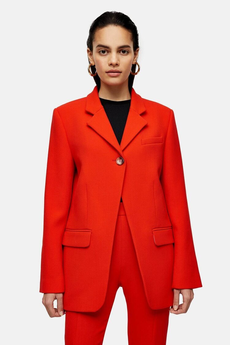 HIGH BREAK BLAZER, $230, TOPSHOP