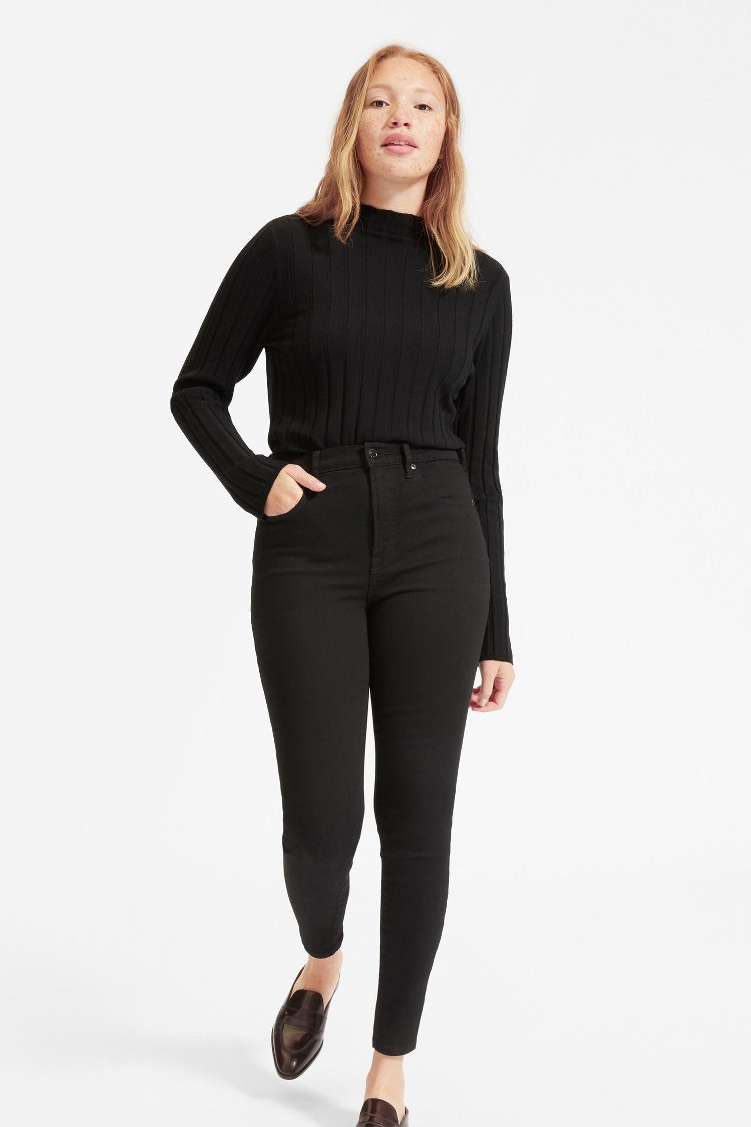 Authentic Stretch High-Rise Skinny , $68, Everlane