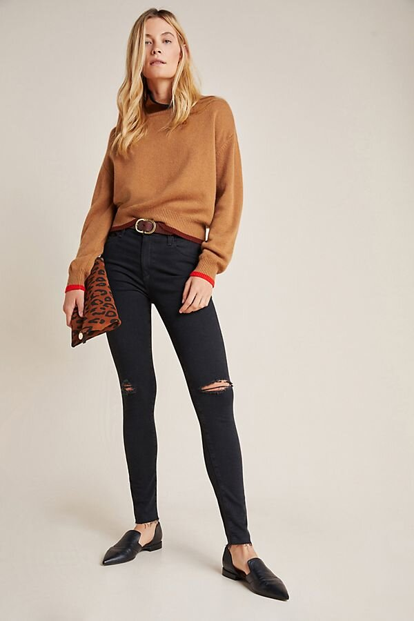 The Farrah High-Rise Skinny Jeans, $198, Anthropologie