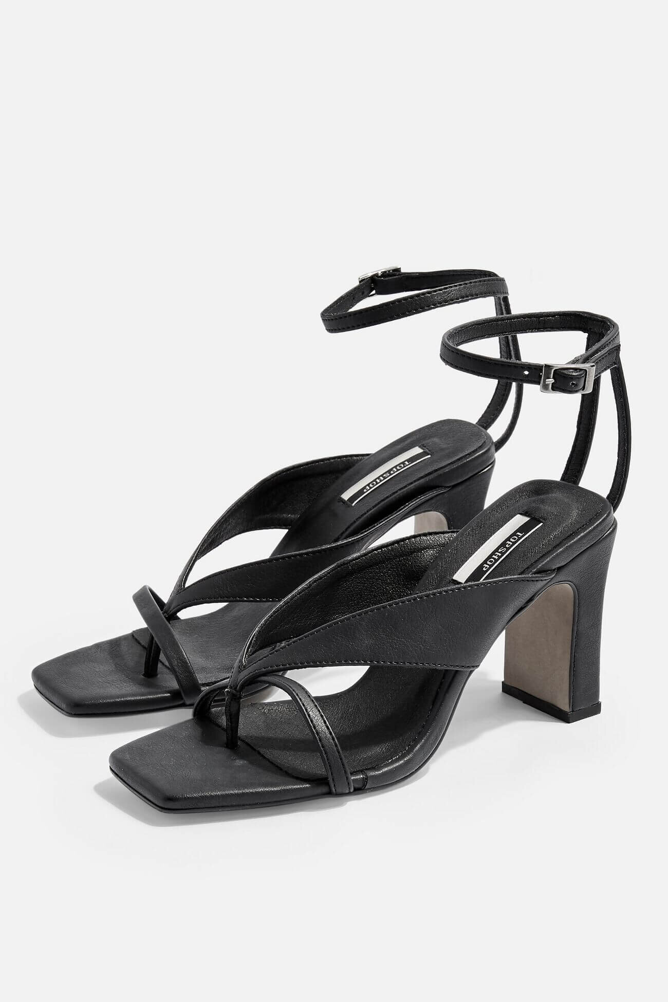 Vegan Black Strappy Sandals, $52, Topshop
