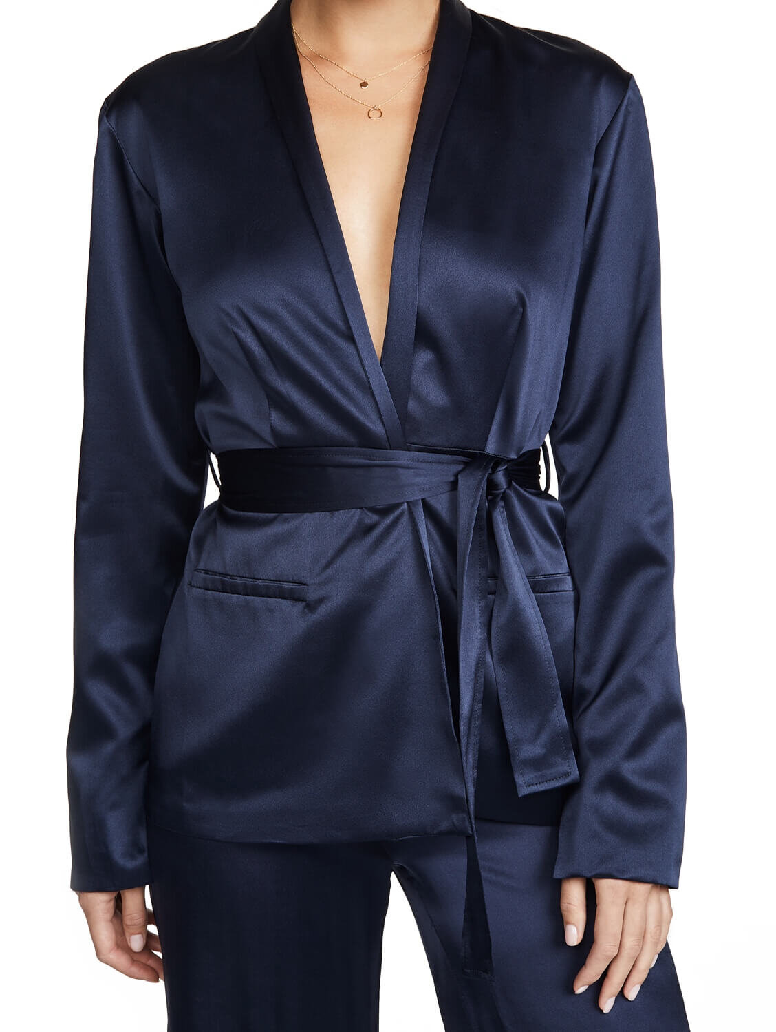 Satin Tie Jacket, $795, Shopbop
