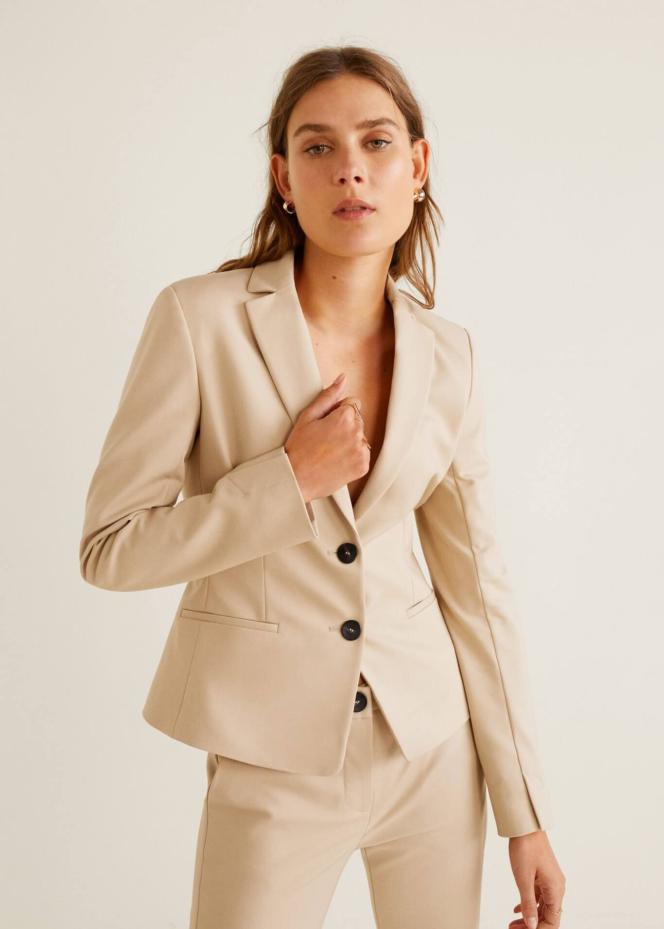 Essential structured blazer, $70, Mango
