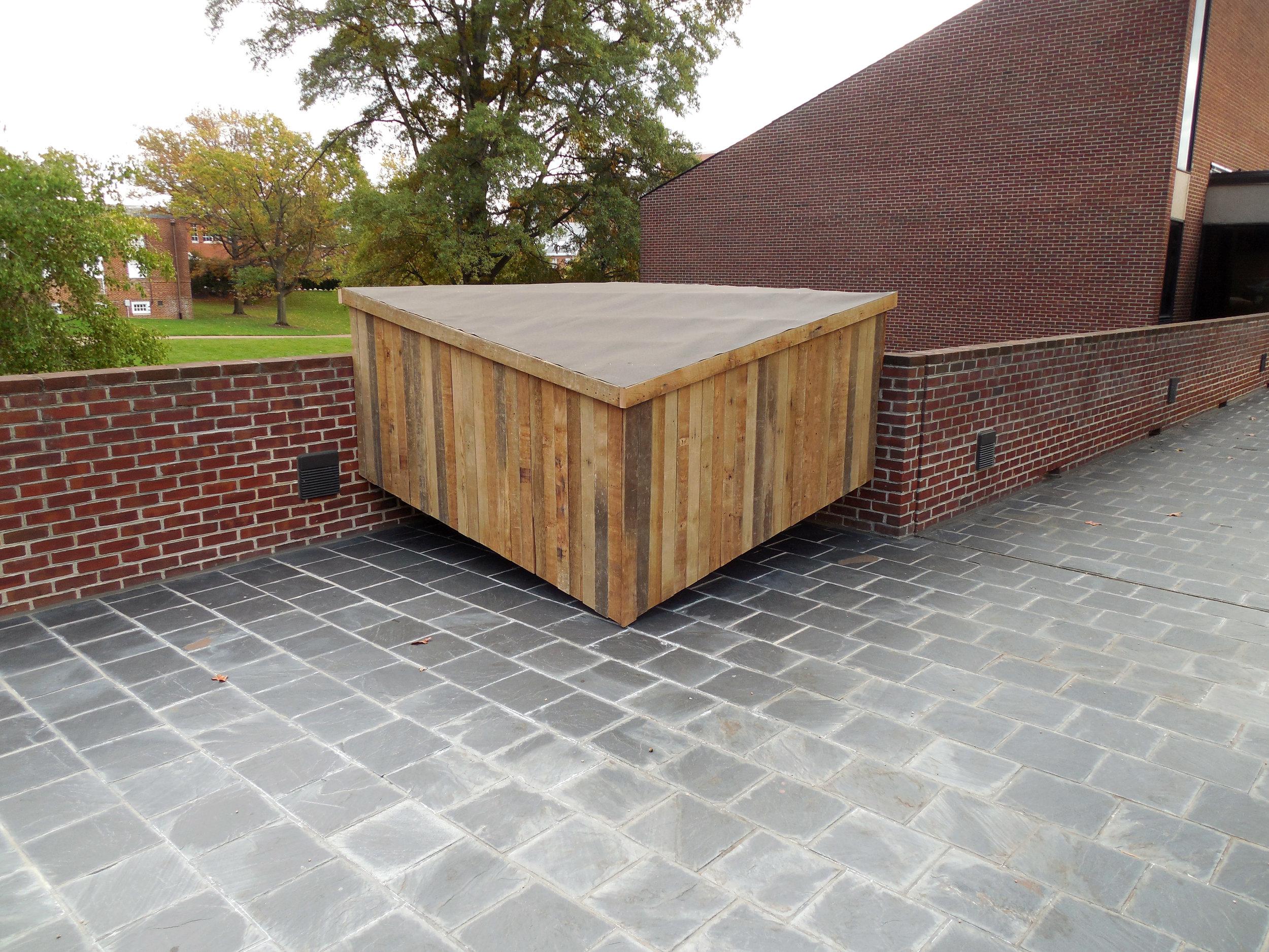 Bunker     2015 ,  Cedar, steel, roofing felt