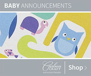 Baby Announcement Invitations from Carlson Craft