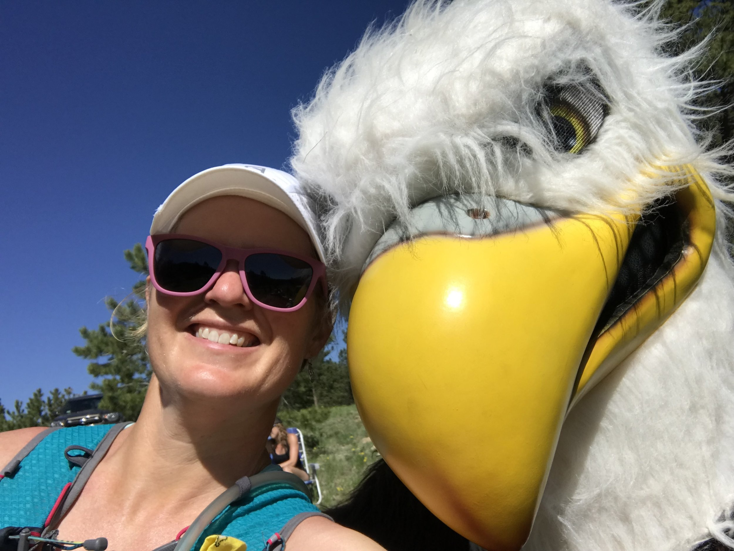 Happiest selfie with an eagle ever!