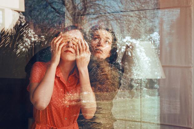 Self-portrait with my mother, 2011 Anna di Pospero