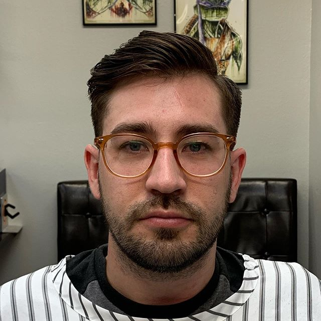 @sir_ridgeway  here was getting a cut before he started his first week as a history teacher!!! I'm sure he killed it!!!