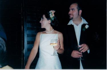 Heloiza e Cashman casando em 2000
