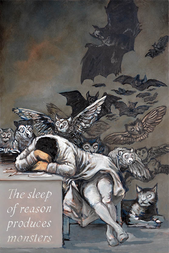 """O sono da razão produz monstros"" Francisco Goya"