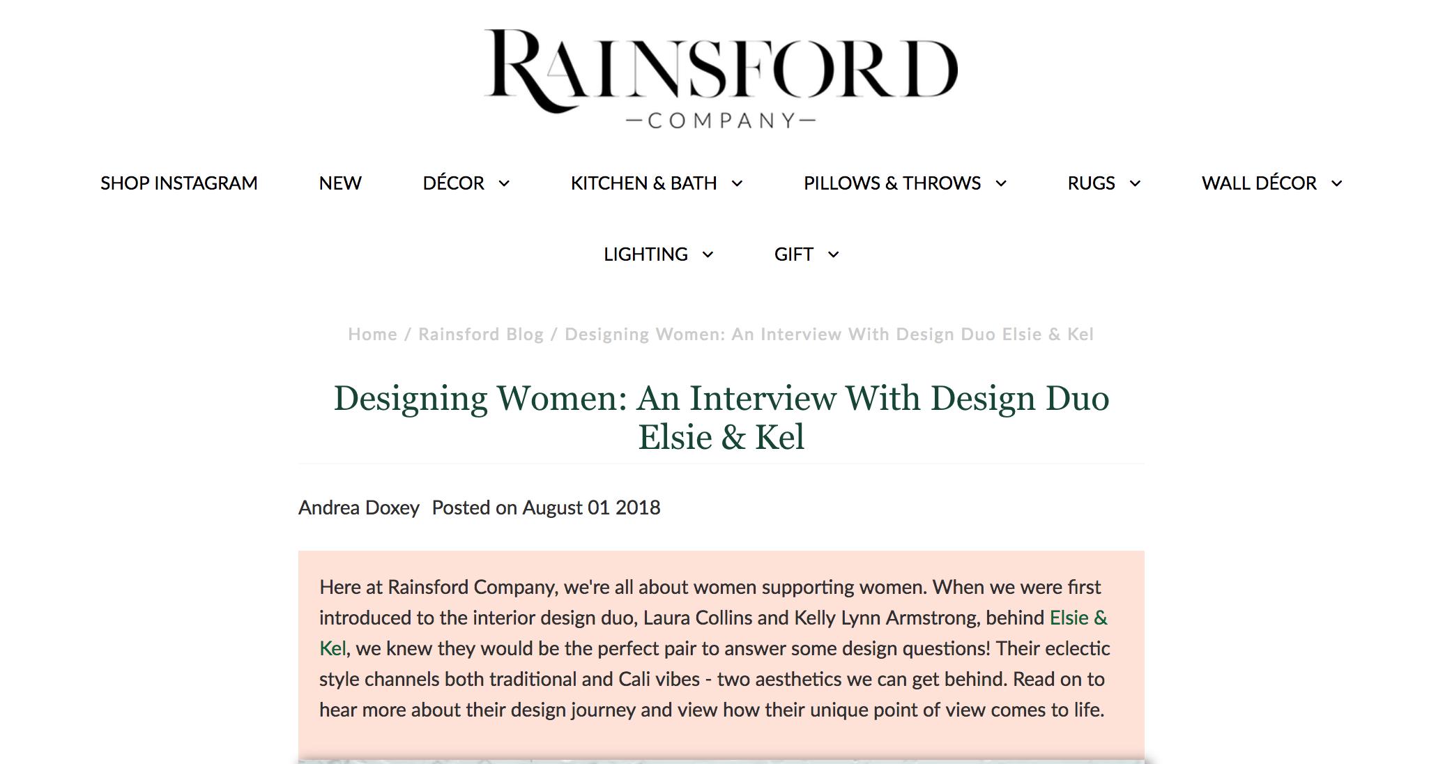RAINSFORD COMPANY ELSIE AND KEL