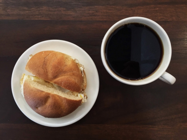 The Gotham blend served black with our classic Egg & Cheese