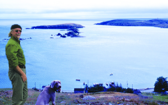 Chris Morry visiting Ferryland.  Submitted photo
