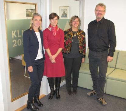 From the left: Kristina Mjörnell, Hallie Eakin, Rafaela Matos and Thomas Glade. Photo: Tore Kvande
